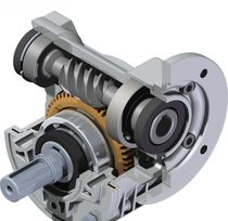 Worm gear reducer / orthogonal / precision / high-speed
