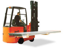 Electric forklift / narrow-aisle / lateral / multi-directional