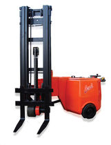 Electric forklift / for very narrow aisles / walk-behind / handling