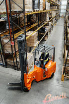Electric forklift / ride-on / narrow-aisle / articulated