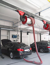 Mounted extraction system for vehicle / exhaust gas / on sliding rail
