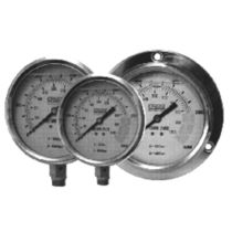 Analog pressure gauge / bellows / process / stainless steel
