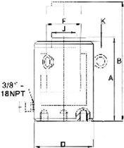 Hydraulic cylinder / single-acting