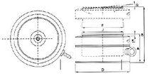Hydraulic jack / lock-nut / low-profile