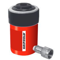 Hydraulic cylinder / single-acting / hollow-plunger