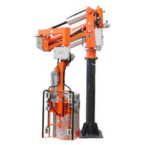 Pneumatic manipulator arm / with gripping tool / with suction cup / with clamping system