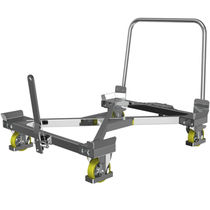 Loading cart / galvanized steel / with swivel casters / two-sided loading