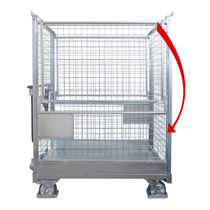 Wire mesh crate / storage / folding / mobile