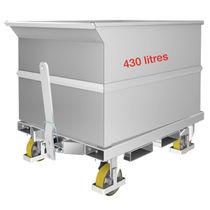 Galvanized steel pallet box / 4-wheel
