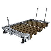 Transport cart / galvanized steel / pallet
