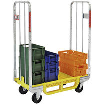 Parcel roll container / shelf