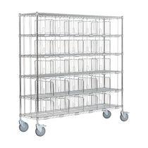 Sorting cart / steel / shelf / multipurpose