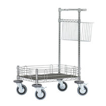 Cleaning cart / steel / with swivel casters