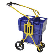 Mail sorting and distribution cart / steel / container / folding