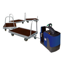 Transport cart / steel / platform / pallet box