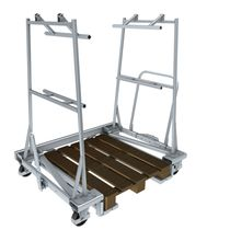 Transport cart / steel / platform / pallet
