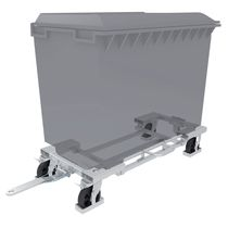 Transport cart / for waste container / zinc-plated steel