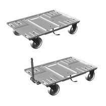Handling cart / transport / for storage containers / aluminum