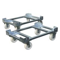 Handling cart / transport / metal / for Euro containers