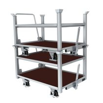 Steel cart / platform / multipurpose / stackable