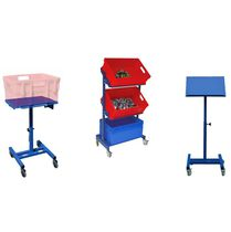 Assembly cart / shelf / for storage containers / multipurpose