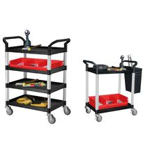 Plastic cart / aluminum / shelf / multipurpose