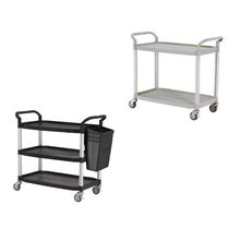 Service cart / plastic / aluminum / shelf