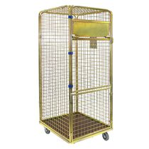 Textile roll cage container / metal / lockable