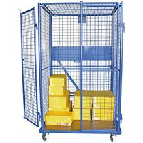 Wire mesh roll container / nesting / lockable