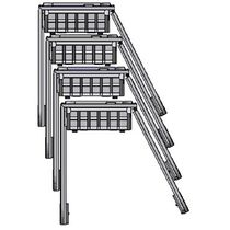Transport cart / steel / wire mesh platform / for heavy loads