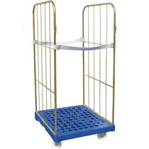 Textile roll cage container