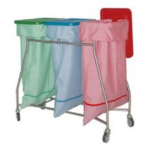 Waste collection trolley / for laundry / multipurpose / with foot pedal