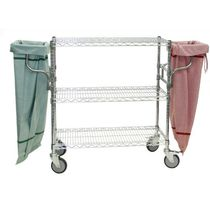Steel cart / wire mesh platform / 3 levels / multipurpose