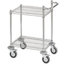 Service cart / steel / wire mesh platform / platform