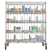 Sorting cart / steel / shelf / multipurpose