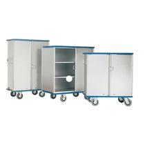 Workshop cabinet / on casters / metal / modular