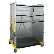 Parcel roll container / shelf / with plastic base