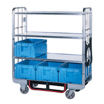 Handling cart / transport / for storage containers / steel