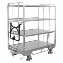 Handling cart / transport / for storage containers / plastic