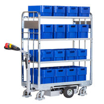 Transport cart / steel / shelf / container