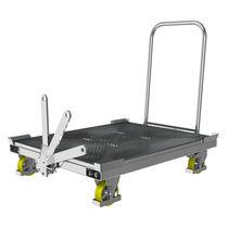 Transport cart / steel / galvanized steel / platform