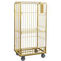 Metal roll cage container