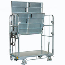 Handling cart / transport / steel / shelf