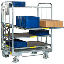 Telescopic cart / handling / transport / for storage containers