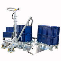 Handling cart / steel / for transport dollies / for storage containers