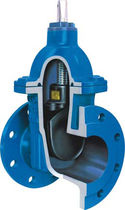 Gate valve / pneumatic-operated / distribution / for wastewater