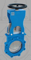 Knife gate valve / with handwheel / shut-off / for liquid food products and beverages