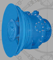 Needle valve / hydraulically-operated / flow-control / for water