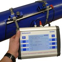 Ultrasonic flow meter / for liquids / portable / clamp-on