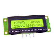 LCD display modules / alphanumeric / 2-line / LED-backlit